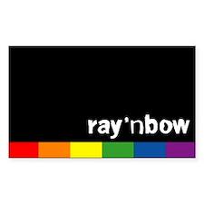 Rainbow Rectangle Decal