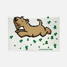 SCWT shamrock Jump Rectangle Magnet