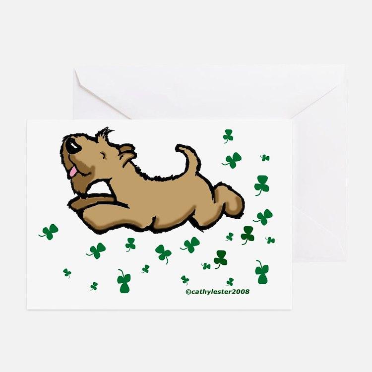 SCWT shamrock Jump Greeting Cards (Pk of 10)