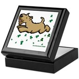 Wheaten terrier Square Keepsake Boxes