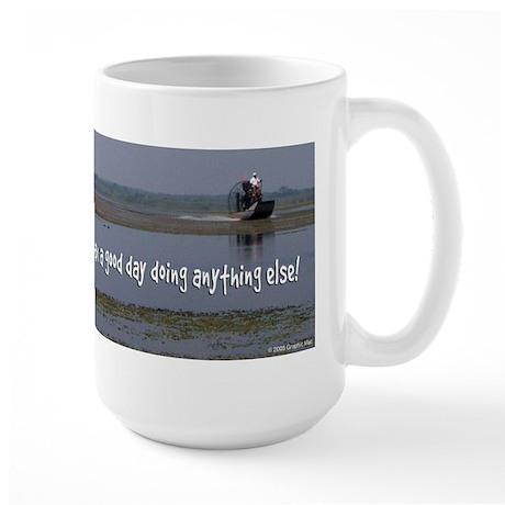 A bad day airboating Large Mug
