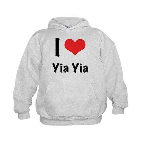 I 'heart' Yia Yia Kids Hoodie