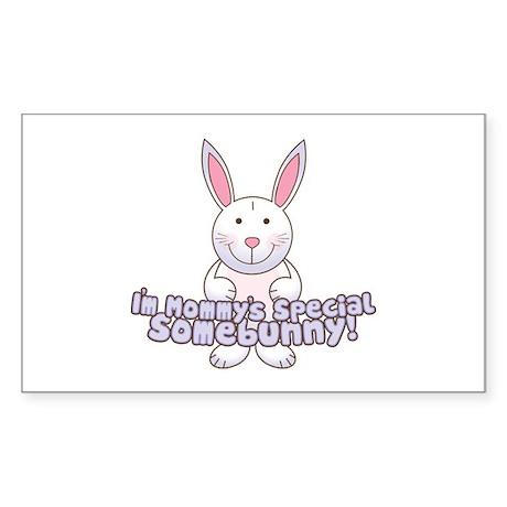 Mommy's Somebunny Boy Rectangle Sticker