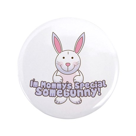 "Mommy's Somebunny Boy 3.5"" Button (100 pack)"