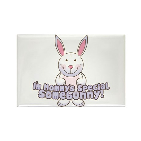 Mommy's Somebunny Boy Rectangle Magnet (100 pack)