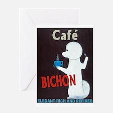 Café Bichon Greeting Card