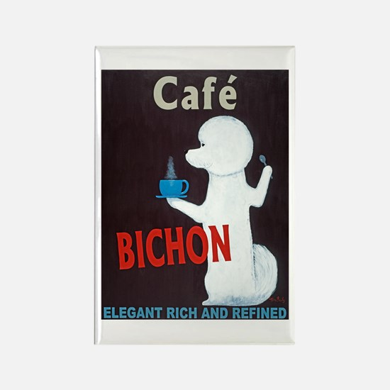 Café Bichon Rectangle Magnet (10 pack)