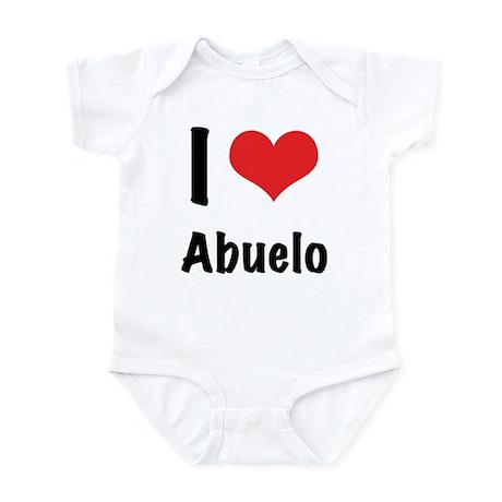 """I """"heart"""" abuelo Infant Bodysuit"""