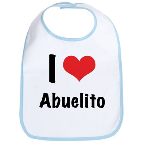 "I ""heart"" Abuelito Bib"
