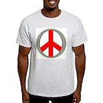 International Peace Symbol Ash Grey T-Shirt