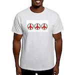 Internation Three Peace Symbol Ash Grey T-Shirt