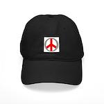 International Peace Symbol Black Cap