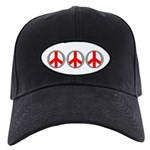 Internation Three Peace Symbol Black Cap