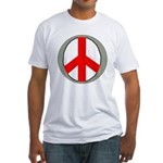 International Peace Symbol Fitted T-Shirt