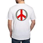 International Peace Symbol OB Fitted T-Shirt