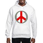 International Peace Symbol Hooded Sweatshirt