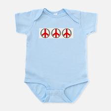 Internation Three Peace Symbol Infant Creeper