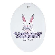 Mommy's Somebunny Girl Oval Ornament
