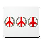 Internation Three Peace Symbol Mousepad
