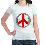 International Peace Symbol Jr. Ringer T-Shirt
