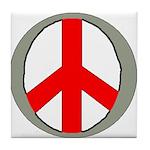 International Peace Symbol Tile Coaster