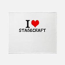 I Love Stagecraft Throw Blanket