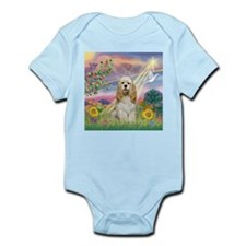 Cloud Angel & Cocker (Buff) Infant Bodysuit