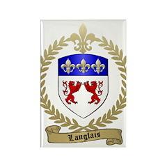 LANGLAIS Family Crest Rectangle Magnet (100 pack)