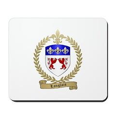 LANGLAIS Family Crest Mousepad