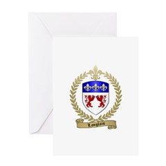LANGLAIS Family Crest Greeting Card
