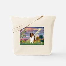 Cloud Angel & Collie Tote Bag