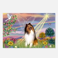 Cloud Angel & Collie Postcards (Package of 8)