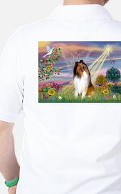Cloud Angel & Collie Golf Shirt
