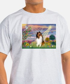 Cloud Angel & Collie T-Shirt