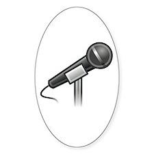 Vocalist\Singer Oval Decal