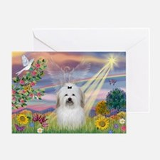 Cloud Angel & Coton Greeting Card