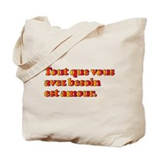 All You Need is Love in French Tote Bag