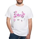 Diva Bubbles White T-Shirt