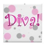 Diva Bubbles Tile Coaster