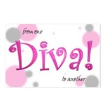 Diva Bubbles Postcards (Package of 8)