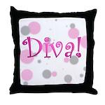 Diva Bubbles Throw Pillow