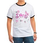 Diva Bubbles Ringer T