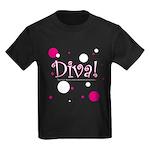 Diva Bubbles Kids Dark T-Shirt