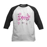 Diva Bubbles Kids Baseball Jersey