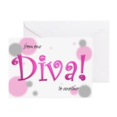 Diva Bubbles Greeting Cards (Pk of 20)
