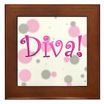 Diva Bubbles Framed Tile