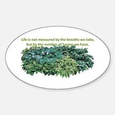 Number of hostas Oval Decal