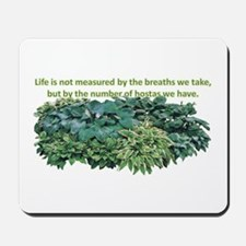 Number of hostas Mousepad