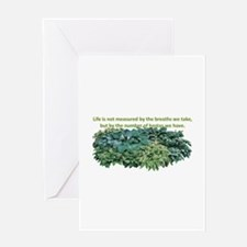 Number of hostas Greeting Card