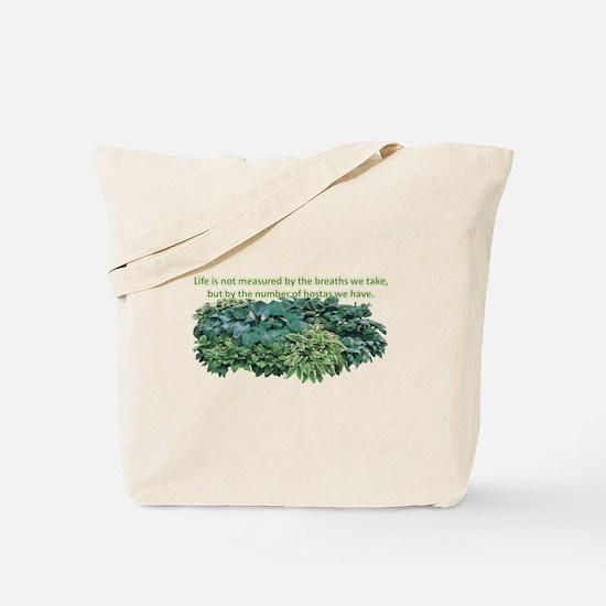 Number of hostas Tote Bag